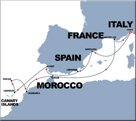 Canary Islands Cruise Route Map