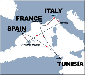Christmas Cruise Route Map